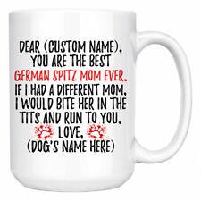 Personalized German Spitz Dog Mom Mommy Coffee Mug, Spitz Dog Owner Women Gifts