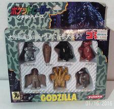 GODZILLA Figures Box Set Of 7 Vintage 1992 Yutaka NRFB Japan RARE LOOK