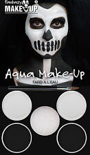 Halloween Scary Dracula Black & White Make Up Kit Skeleton #Fancy Dress Horror
