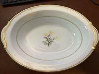 Vintage Noritake China Japan 5521 Winton Oval Vegetable Bowl 10-1/2 Long 32 Oz