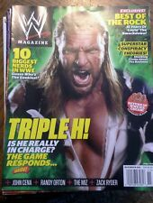WWE NOVEMBER 2011 MAGAZINE TRIPLE H EXCLUSIVE, BEST OF The Rock, Randy Orton...