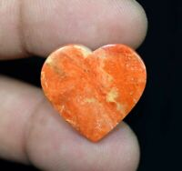Heart Of American Orange Sponge Coral 13.45 Cts. 100% Natural Cabochon Gemstone