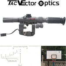 Vector Optics Tactical Military SVD 3-9x24 Rifle Scope FFP First Focal Plane
