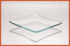 """4"""" Square Clear """"BENT"""" Glass Plate 1/8"""""""