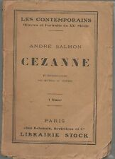 Cézanne par André Salmon.Collection les Contemporains