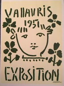 PABLO PICASSO,1951 Exposition Vintage, Poster,1957 Offset Lithograph