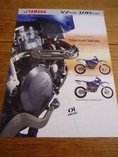 YAMAHA YZ & WR 426F MOTORBIKE BROCHURE 2001