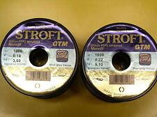 Stroft GTM - monofile Schnur - 100m Originalspulen 0,12 - 0,35mm - portofrei