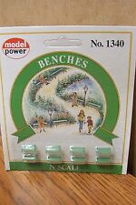 MODEL POWER N SCALE FIGURES BENCHES
