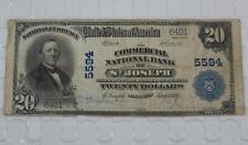 Series 1902 $20 Dollar National Bank Note 5594 Commercial Nb St Joseph, Mi P0055