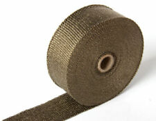 """2""""x5M Titanium Exhaust Heat Wrap Roll Cable Pipe Tape With 6 Stainless Ties Kit"""