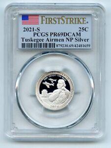 2021 S 25C Silver Tuskegee Airmen Quarter PCGS PR69DCAM First Strike