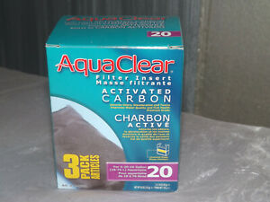 Aqua Clear 20 Carbon Insert 3 Pack Filters 2 boxes
