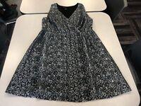 Lane Bryant Black Silver Floral Dress Size 14