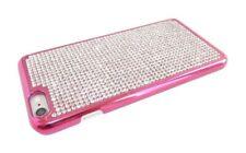 iPhone 5 5S SE Case Pink Diamond Diamante Hard Back Hot Pink