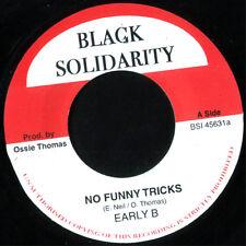"Early B – No Funny Tricks UK 7"" ROOTS MINT Black Solidarity DANCEHALL"