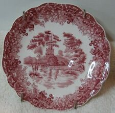 "J & G Meakin Romantic England Red Transfer 5"" Saucer Anne Hathaway's Cottage"