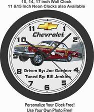 1962 CHEVROLET BEL AIR SS 409 RACE CAR WALL CLOCK-FREE USA SHIP