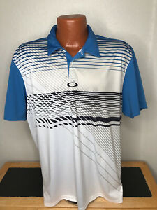 Men's Oakley Golf S/S Polo/Golf Shirt Size Extra Large (XL) Striped - Polyester