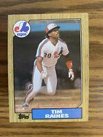 (100) 1987 Topps Tim Raines NM+ #30 Montreal Expos