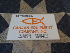 Sticker-CANAAN Equipment,Dothan,AL.Alabama fish logo orange original= melaneybuy