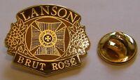 CHAMPAGNE LANSON BRUT ROSE French Wine vintage pin badge