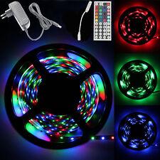 5M RGB 3528 LED Strip light String Lamp SMD 44 Key Remote 12V Power Full Kit Set