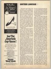 De Busschere Shoes - Discover Rhode Island Americas Cup Races 1967 Print Ad
