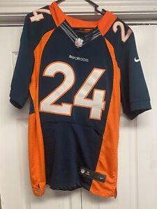 Denver Broncos Champ Bailey # 24 Nike NFL Mens Jersey blue orange Mesh sz. 40