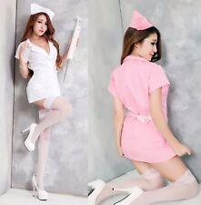 Costume Completo Infermiera Nurse Perizoma Vestito Sexy Cosplay Lingerie Calze