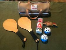 Vintage ToTe Pickleball Tennis Duffel Bag Set with Paddles and Balls
