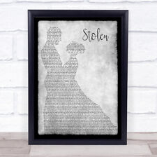 Stolen Man Lady Dancing Grey Song Lyric Print