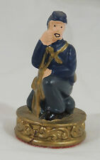 """American Civil War Confederate South Gray Plastic Chess Piece Pawn 2 5//8/"""" tall"""