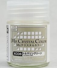 MR HOBBY Crystal Color Gunze LACQUER  XC06 Tourmaline Green MODEL KIT PAINT 18ml