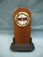 League Champs award trophy solid walnut full color insert