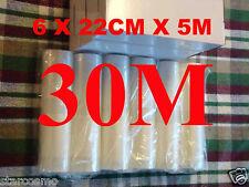 VACUUM HEAT SEALER FOOD SAVER BAGS 30Mx22CM ROLLS.PREMIUM GRADE.SUIT SUNBEAM