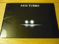 RENAULT ALPINE A 610 TURBO PRESTIGE BROCHURE  jm