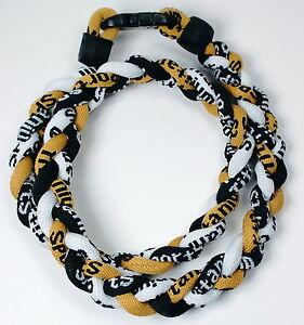 """Wholesale Lot of 15 20"""" Gold Black Black Titanium Sport Necklaces Tornado"""