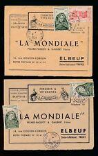 Francés Sahara 1950-53 Publicidad Sobres Mali.. Mondiale.. cancela Dire + Niono