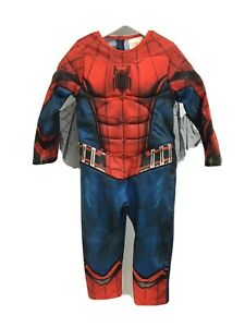 MARVEL Spiderman Costume One Piece Age 3 - 4 UK With Web Attached