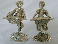 Pr Silver Plate Boy & Girl Salt Servers