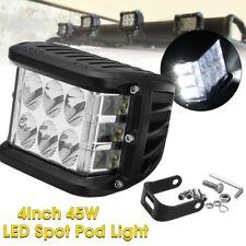 4'' 45W LED Cube White Bright Work Light Pod Spot Flood Beam 6000K Driving Lamp