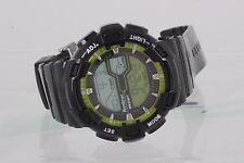 ARMITRON ALL SPORT CHINA WR330FT BLACK & LIME GREEN WRIST WATCH 2282B