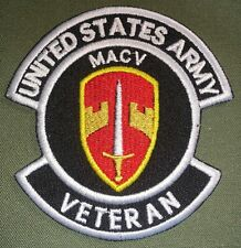 US ARMY MILITARY ASSISTANCE COMMAND VIETNAM MACV VETERAN PATCH NEW (B484)