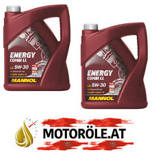 2x 5 Liter 5W-30 Motoröl Mannol Energy Combi LL Longlife BMW LL-04 VW 507.00