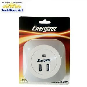 Energizer 2.4 Amp Output Twin USB Charger & Night Light For Quick Charging