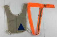 Vintage Jog A Lite Safety Vest Belt Reflective 2 Piece Multi Use Made in USA