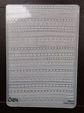 Sizzix Large Embossing Folder BORDERS DECORATIVE LINES fits Cuttlebug & Wizard