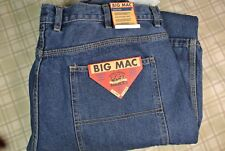 "NWT $50 Men's Big Mac Utility ""Work Pant"" Blue Denim Jeans  Size 36 X 34"