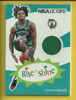 Carsen Edwards RC 2019-20 Panini Hoops Rise N' Shine Rookie Jersey Relic Celtics